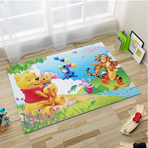 juan Alfombra De Dibujos Animados Cute Winnie The Pooh Y Tigger Tiger Home Floor Mat Mesa De Café Baño Dormitorio Sala De Estar Cojín Rectangular Creativo 80Cm * 120Cm