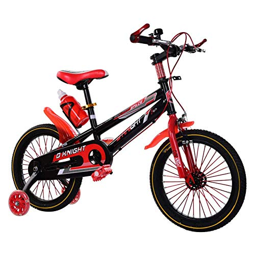 Bicycle for Kids, 16Inch Sports Kids Mountain Balance Bike with Bell Safety Stabilisers Double Brake System Children Bike Perfect for 5-8 Years Old Boys Girls