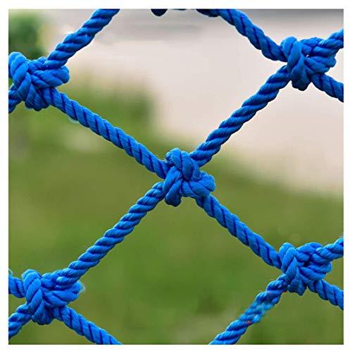 HJRD Balcony Net, Nylon Rope Net Blue, Garden Fence Net, Cargo Net, Decorative Protective Net Stair Anti-fall Net Child Safety Net Cat Net,2 * 4M(7 * 13ft)