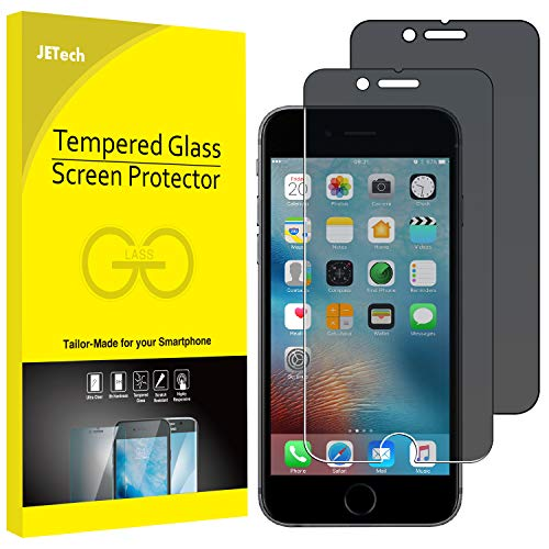 JETech Privacy Screen Protector for iPhone 6 Plus and iPhone 6s Plus, 5.5-Inch, Anti-Spy Tempered Glass Film, 2-Pack