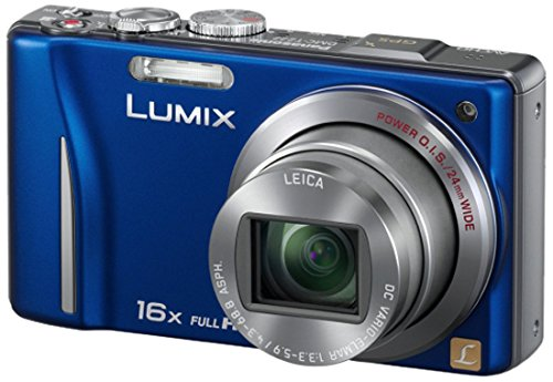 Panasonic Lumix DMC-TZ22EG-A Digitalkamera (14 Megapixel, 16-fach opt. Zoom, 7,5 cm (3 Zoll) Touch LC-Display, GPS, Full HD, 3D, bildstabilisiert) blau