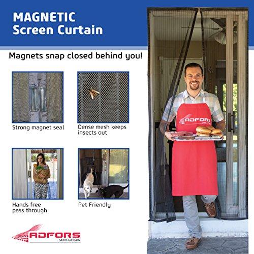 Saint-Gobain ADFORS FCS10914-U Magnetic Screen Door Curtain, Charcoal