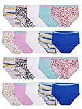 Fruit of the Loom Girls' Cotton Brief Underwear, 20 Pack-Fashion Assorted, 4