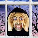 JANGOU Scary Peeper Freaks, Scary Peeper Halloween Decoration Peeping Tom, Scary Peeper Clown Cling Halloween DéCor, Halloween Decoration Peeping Tom Clowns, Scary Peeper Giggle Mas (B)