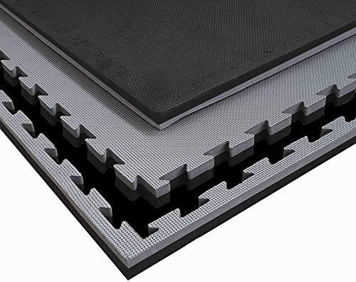 G5 HT SPORT Tatami 100x 100x4 cm in Eva cornici Incluse Nero/Grigio Adatto a Tutti Gli Ambienti Indoor multidiscipline I1 mq
