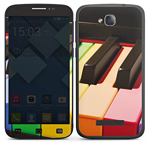 DeinDesign Alcatel One Touch POP C7 Case Skin Sticker aus Vinyl-Folie Aufkleber Piano Colours Klavier Musik