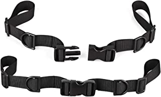 Oziral Backpack Chest Strap [2 Pack] Heavy Duty Adjustable Backpack Sternum Strap Chest Belt with 10 Pieces Zipper Pulls