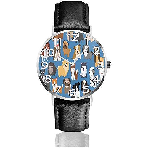 Tipos De Perros En Azul Relojes De Dibujos Animados Reloj De Pulsera...