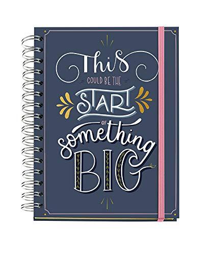 Miquelrius - Agenda Anual 2021 Happy Letters - Español, Semana Vista, Tamaño 155 X 213 Mm (~A5), Papel 90G, Cubierta Rígida Cartón Forrado, Color Azul, Something Big