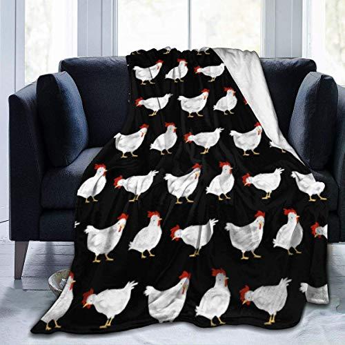 wobuzhidaoshamingzi witte kip ultra zachte flanel fleece het hele jaar door lichte woonkamer/slaapkamer warme deken