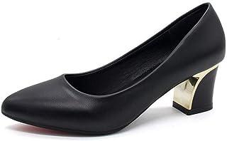 6cmヒール ポインテッドトゥ ハイヒール チャンキーヒール パンプス 太ヒール 痛くない レディース 美脚 歩きやすい 走れる 結婚式 入学式 フォーマル オフィス 大きいサイズ チャンキー ポインテッド 靴 仕事 春 秋