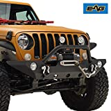 EAG Front Bumper with Fog Light Hole & Winch Plate Fit for 18-20 Wrangler JL