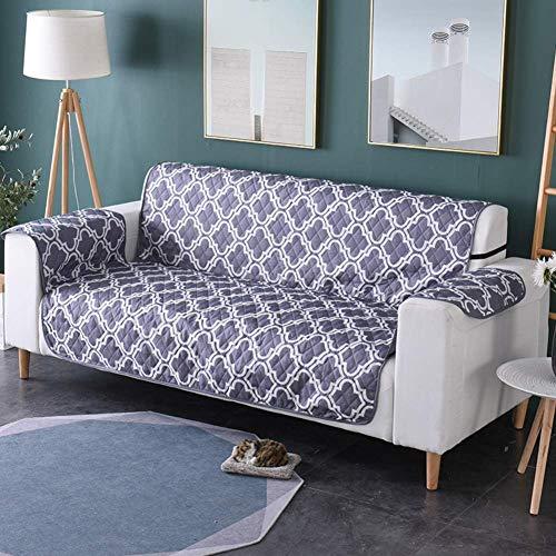 Jonist Funda para sofá Reversible, Antideslizante, Antiadherente, Impresa, para sofá, Protector Integrado Lavable para Muebles para niños, Mascotas-c 53x183cm (21x72inch)
