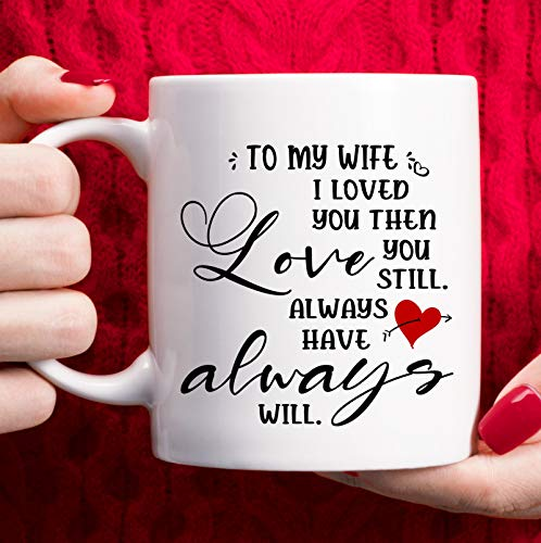 Best Gifts for Wife, Valentines Day Gifts for Wife Adult - Wife Birthday Gift from Husband, Mothers Day Gifts for Wife Christmas Gifts, Anniversary presents for Her, I Love You to My Wife Coffee Mug