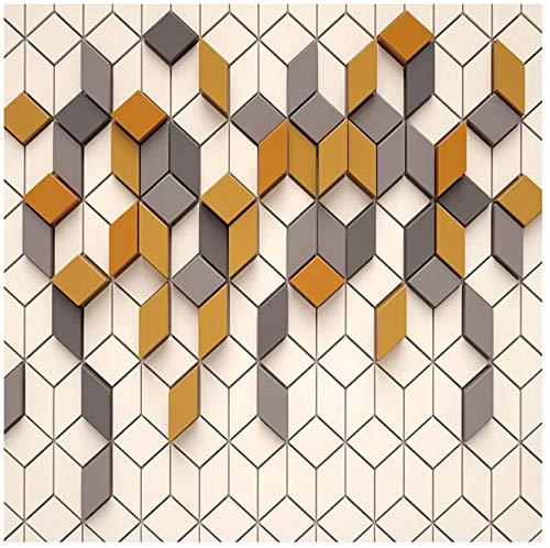 3D-wandbehang vlies PVC HD abstracte geometrische ruit vierhoekige lijnen woonkamer slaapkamer eetkamer achtergrond wanddecoratie 250(w) x175(H) cm