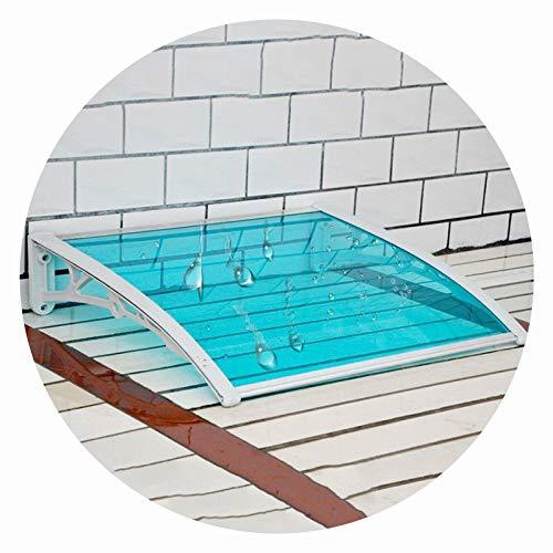 LIANGLIANG Vordach Haustür Überdachung, Stumm Anti-Lärm Schatten Lichtübertragung Schlagfestigkeit, Benutzt Für Balkon Terrasse Geräteschutz (Color : Blue, Size : 80x80cm)