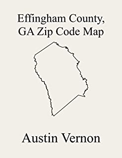Effingham County, Georgia Zip Code Map: Includes Guyton-Springfield, Shawnee, and Rincon