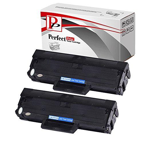 PerfectPrint - 2 cartuchos de tóner compatibles PerfectPrint sustituir la MLT-D1042S para Samsung impresora ML-1660 ML-1661 ML-1665 ML-1666 ML-1670 ML-1675 ML-1860 ML-1865 ML-1865W SCX-3200 SCX-3201 SCX-3205 SCX-3205W SCX-3206 SCX-3217 SCX-3218