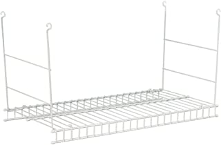 Closetmaid 24 In. Hanging Steel Wire Shelf for Laundry Rooms or Closets in Classic White