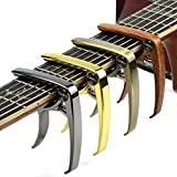 Guitar Capo, 4 Pack(4 color a set) Guitar Capo for Acoustic and Electric Guitars,Ukelele,Bass with Guitar