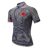 weimostar Maillot de ciclismo de montaña para hombre, camiseta de ciclismo de manga corta, transpirable, cómodo, secado rápido