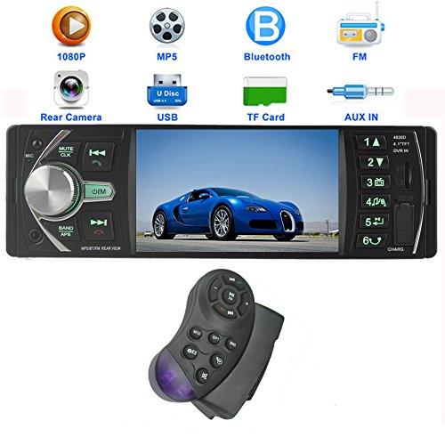 PolarLander 12V 4.1HD Car Stereo-Radio-MP5 FM / 5V Ladegerät / MP3 / MP4 / Audio/Video/USB/TF/AUX/Unterstützung Rückfahrkamera und Auto DVR Input 1 DIN