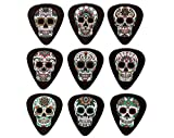 Sugar Skull Guitar Picks Set of 9 Double Sided Harmony Picks