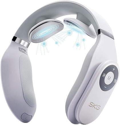 GWM 頚部マッサージャーネックウエストショルダー多機能ネックマッサージピロー振動ニーディングネックインストゥルメント、42°C定温加熱混練マッサージ - 家庭/オフィス/車の使用 - 白