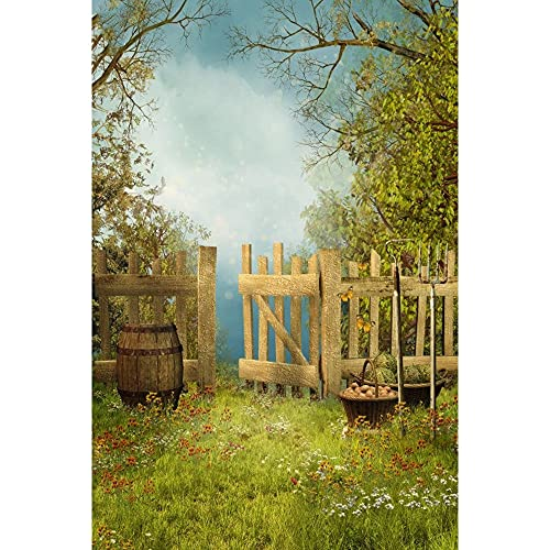Photo Backgrounds Spring Easter Dreamer Fence Park Forest Photography Decorations Vinyl Baby Photography Background for Photo Studio Photophone-150X100CM