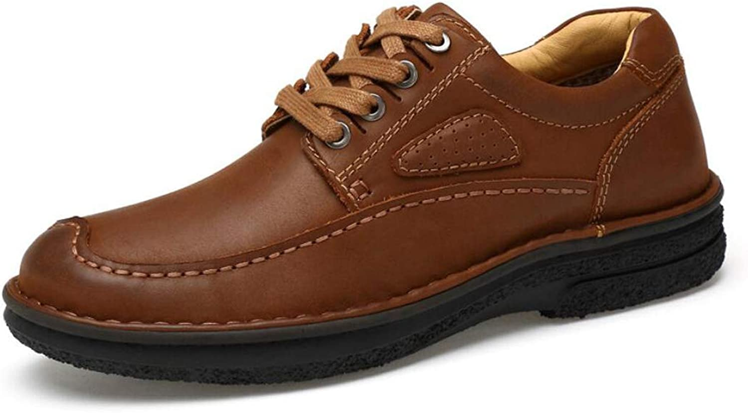 Business shoes Men's Casual shoes Hand-Stitched Lace-up Driving shoes Large Size Single shoes 38-45