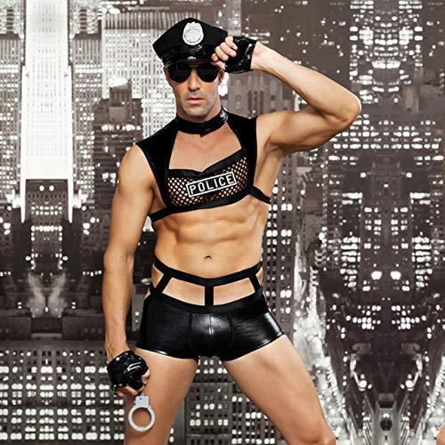 SEXYSY Lencera Sexy para Hombres Disfraces de Cosplay Adultos erticos Calientes Uniforme de mdico Blanco Ropa Interior de Juego de Roles Fiesta de Disfraces sexuales
