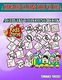 Dinosaurs Coloring Book For Kids: 40 Funny Quetzalcoatlus, Saltopus, Archelon, Archelon, Azendohsaurus, Allosaurus, Allosaurus, Velociraptor For Black ... Picture Quizzes Words Activity Coloring Book