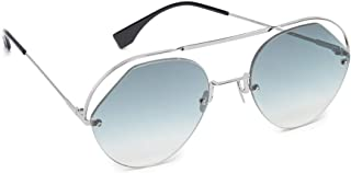 FENDI Women's Sunglasses, Oval, FF 0326/S - Silver/Grey