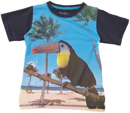 NAME IT Jungen T-Shirt 13084565 Ingo Mini SS Top, Gr. 80, Mehrfarbig (Dress Blues Print:Bird)