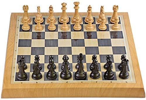 GLXLSBZ Juego de ajedrez para Adultos Juego de ajedrez Juego de ajedrez de plástico magnético 46.8cm * 46.8cm Internacional para Principiantes Juego Familiar Tablero de ajedrez Juegos de ajedrez