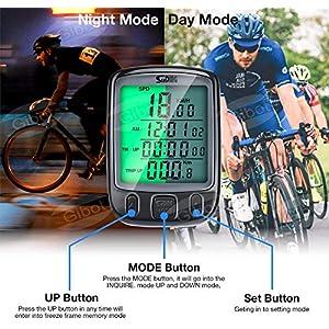 SuMille Bike Velocímetro Odómetro Bike Ordenador Retroiluminación a Prueba de Agua Pantalla Seguimiento de la Velocidad es Adecuado para el Ciclismo