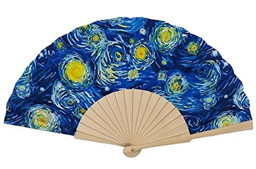 Goodforgoods Abanico con diseño de Las Pinturas de Van Gogh, Klimt y...