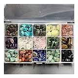 Noble Cristales, 15 Tipos de Cristales Cristales curativos, con Cristales Box Piedras y Curación adecuados for la decoración de DIY Hecho a Mano Accesorios Femeninos (Color : A, Size : 400g)
