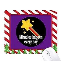 奇跡は毎日起こる ゴムクリスマスキャンディマウスパッド