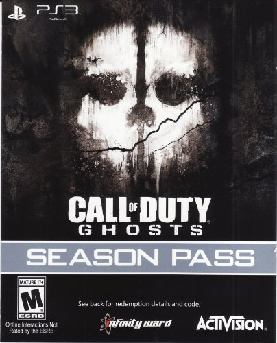 Call of Duty Ghosts Season Pass DLC Code Card - Playstation 3