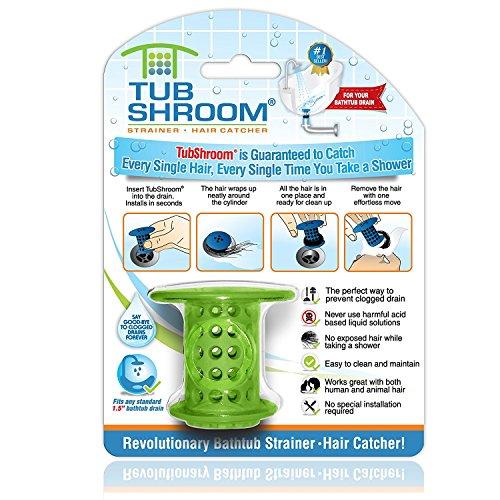 TubShroom Filtro, Silicone, Verde, Standard
