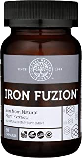 Global Healing Iron Fuzion Supplement Capsules with Curry Plant Extract & Fulvic Acid - Natural Energy to Combat Fatigue, ...