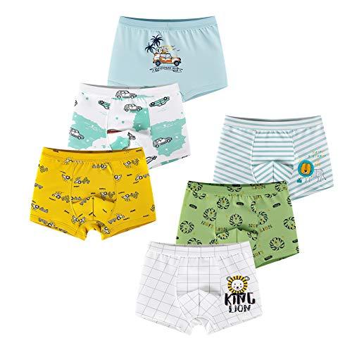 LeQeZe Jungen Boxershorts Unterhosen Baumwolle Kinder Boxer Unterwäsche 2-11 Jahre(6erPack) (Boys 07, 4-5Jahre)