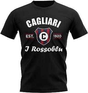 Airosportswear Cagliari Established Football T-Shirt (Black)