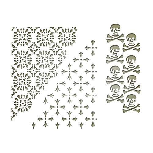 50pz Taglia unica Sizzix Superfici-Cartoncino Prestige 664533 Argento