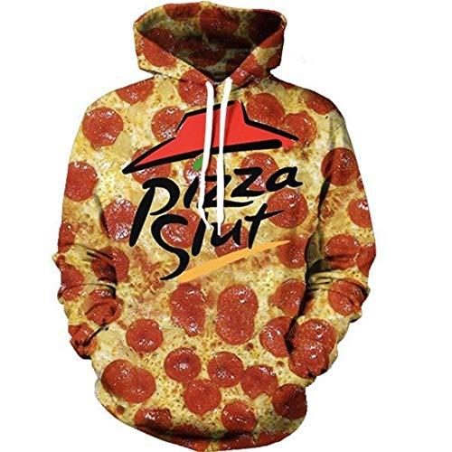 Pizza Slut Harajuku Graphic 3D Hoodies Sweatshirt Men Women Casual Loose Hooded Clothing XL