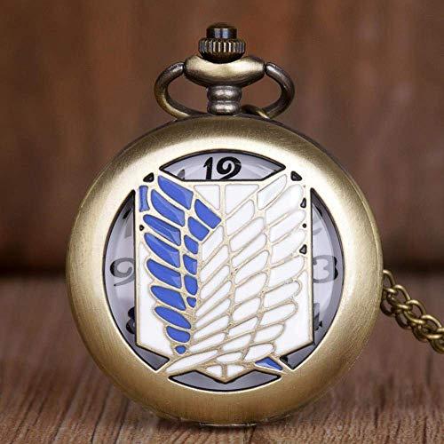 J-Love Reloj de Bolsillo de Bronce Retro Hot Saling Attack o