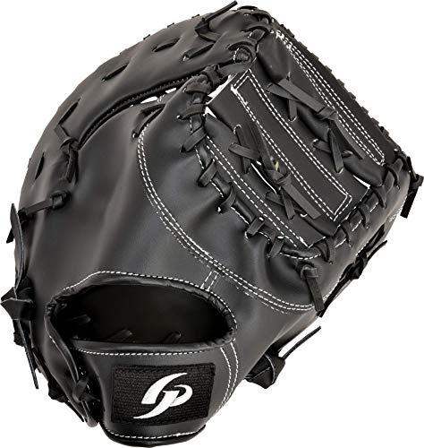 GP (ジーピー) 野球 グローブ ファーストミット 1塁手用 軟式用 草野球・キャッチボールに ブラック 右投げ用 53702, medium