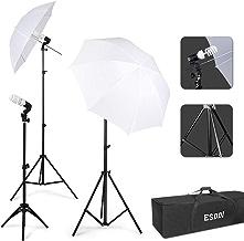 ESDDI Paraguas Fotografía Kit de Iluminación Continua para Estudio Fotográfico con 45W de luz Diurna 5500K para Cámara de Retrato Disparo de Video