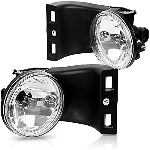 AUTOSAVER88 Fog Lights Compatible with 1994-2002 Dodge Ram 1500 2500 3500 Pickup Truck (Clear Lens w/Bulbs)(Only fit Without Sport Package model)